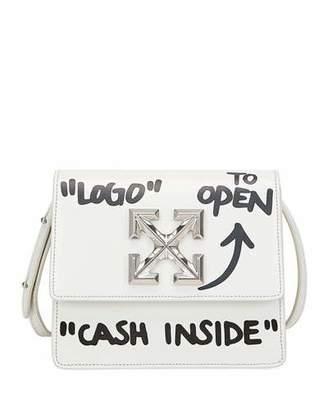 b58030a1368222 Off-White Jitney Cash Inside Crossbody Bag, White/Black
