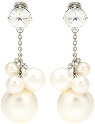 Miu Miu Faux pearl and crystal earrings