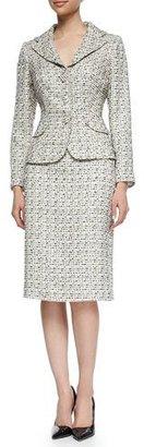 Kay Unger New York Tweed Jacket & Pencil Skirt Suit, Beige $400 thestylecure.com
