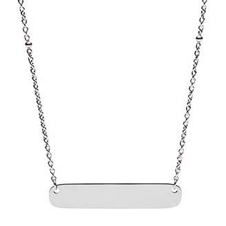 Fossil Women's Plaque Steel Necklace