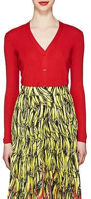 Prada Women's Fine-Gauge Knit Cashmere-Silk Cardigan - Red
