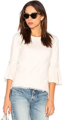525 America Fringe Tulip Sleeve Sweater