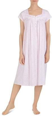 Eileen West Ballet Floral Print Cap Sleeve Nightgown