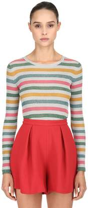 L'Autre Chose Striped Lurex Knit Sweater