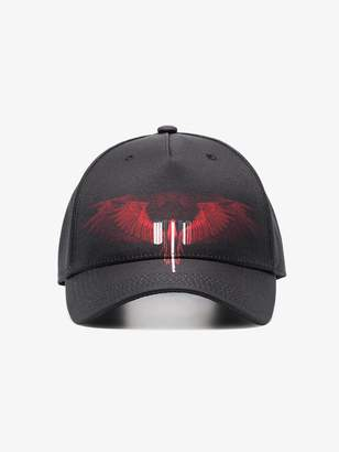 Marcelo Burlon County of Milan black and red tarter wings baseball cap