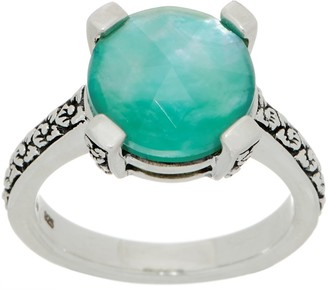 Stephen Dweck Sterling Silver Round Gemstone Ring