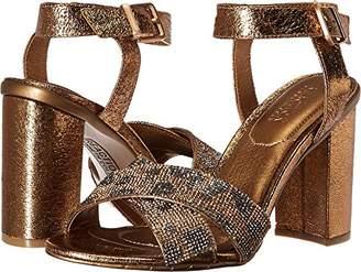 Kenneth Cole Reaction Women's Crash Glitzy X-Band Strap with Mini Jewels on High Heel Dress Sandal