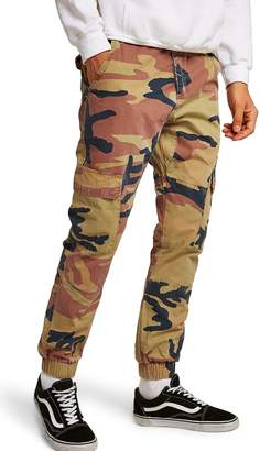 Topman Camouflage Skinny Cargo Trousers