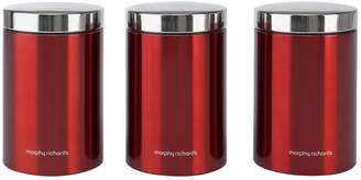 Morphy Richards Accents Set of 3 Storage Jars
