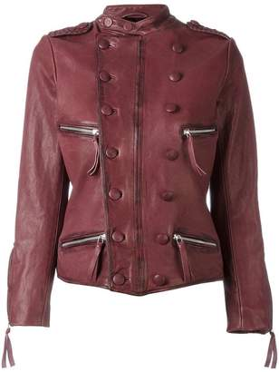 Faith Connexion double-breasted leather jacket