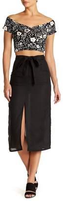 Billabong LOVE LIKE SUMMER X Linen Blend Midi Skirt