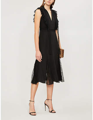 Alexis Sterling silk and lace dress