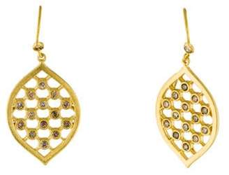 Farah Tanya 18K Diamond Grid Drop Earrings