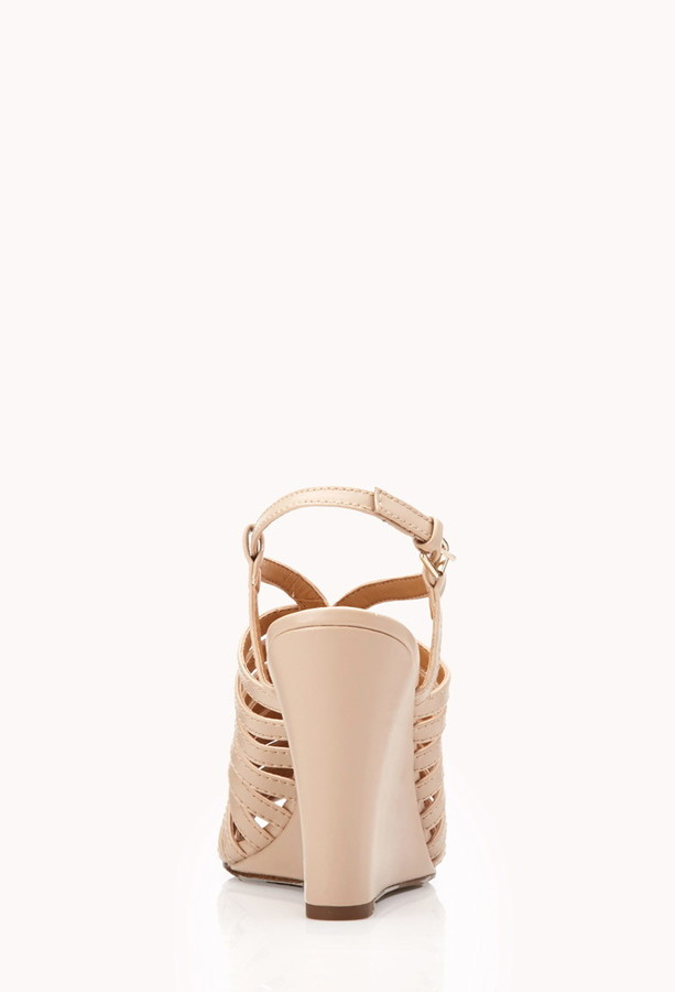 Forever 21 cutting edge wedge sandals