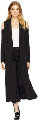 Romeo & Juliet Couture Cold Shoulder Long Blazer Women's Jacket