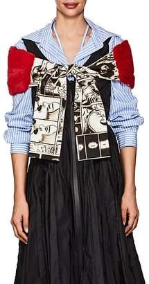 Prada Women's Mink Fur & Cotton Scarf