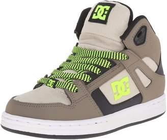 DC Rebound SE High Top Skate Shoe (Little Kid/Big Kid)
