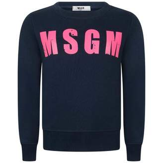 MSGM MSGMGirls Navy Logo Sweater