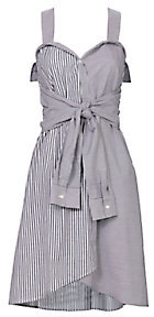 Derek Lam 10 Crosby Striped Tie-Front Mini Dress $395 thestylecure.com