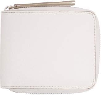 Maison Margiela White Portafoglio Zip Wallet