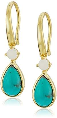 Gold Plated and Opal Dangle Earrings