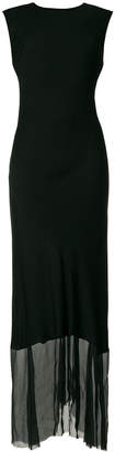 Ann Demeulemeester asymmetric hem maxi dress