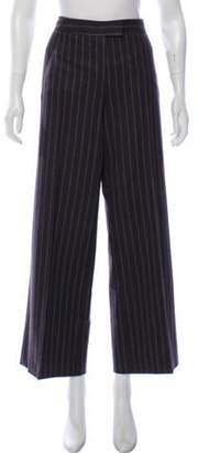 Loro Piana Virgin Wool Mid-Rise Pants Brown Virgin Wool Mid-Rise Pants