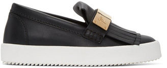 Giuseppe Zanotti Black London Slip-On Sneakers $695 thestylecure.com