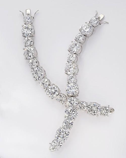 Noir Large Crystal Graduated Large Stone Bracelet