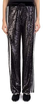 The Kooples Wide-Leg Sequin Sweatpants