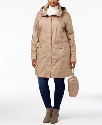 Cole Haan Plus Size Packable Raincoat