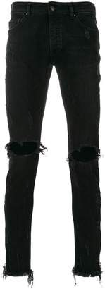 Palm Angels ripped-knee skinny jeans