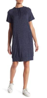 Workshop Short Sleeve Hooded French Terry Dress