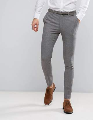 ASOS Wedding Super Skinny Suit Pants in Mini Check In Gray $64 thestylecure.com