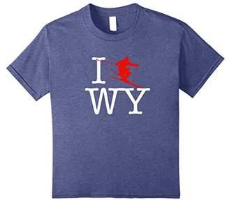 """""""I ski WY"""" Wyoming Ski T-Shirt Jackson Hole"""