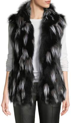 Pologeorgis Fox Fur Stand-Collar Vest
