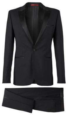 HUGO Boss Wool Tuxedo, Slim Fit Aylor/Herys 36R Black