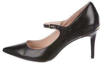 Calvin Klein Pointed-Toe Leather Pumps
