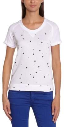 Chipie Women'S Polka Dot Round Collar Short Sleevet-Shirt - - (Brand Size: 38)