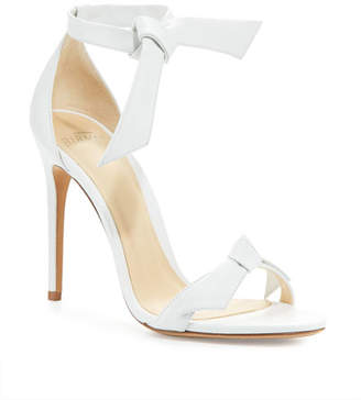 Alexandre Birman Clarita Knotted Leather Sandals, White