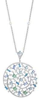 Adriana Orsini Azure Crystal Long Pendant Necklace