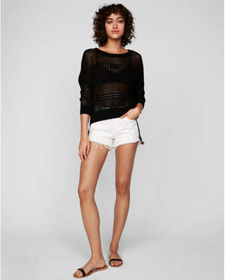Express open stitch pullover sweater