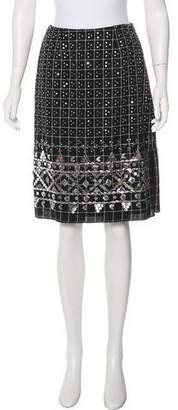 Anna Sui Embellished Knee-Length Skirt