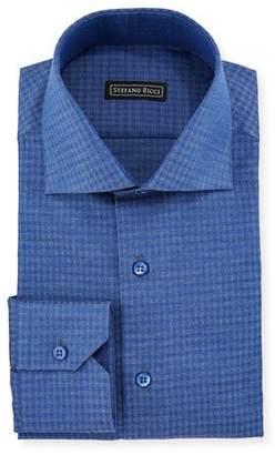 Stefano Ricci Men's Box-Print Cotton Dress Shirt