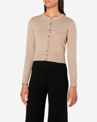 N.Peal Cropped Cashmere Cardigan