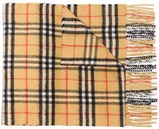 Burberry Nova check print cashmere scarf