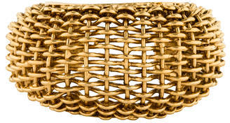 Chanel Large Woven Cuff $595 thestylecure.com
