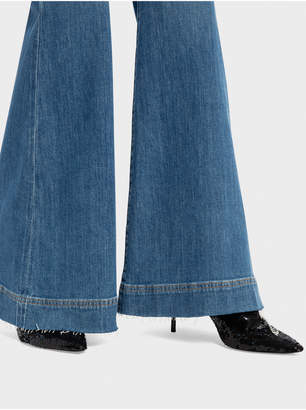Alice + Olivia BEAUTIFUL HIGH RISE BELL JEAN