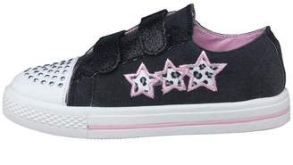 Board Angels Girls Leopard Print Star Pumps Black/Pink
