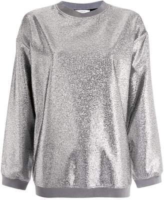LAYEUR metallic sheen sweatshirt